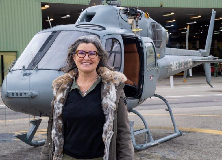 Marie France Lorho à la base aérienne d'Orange